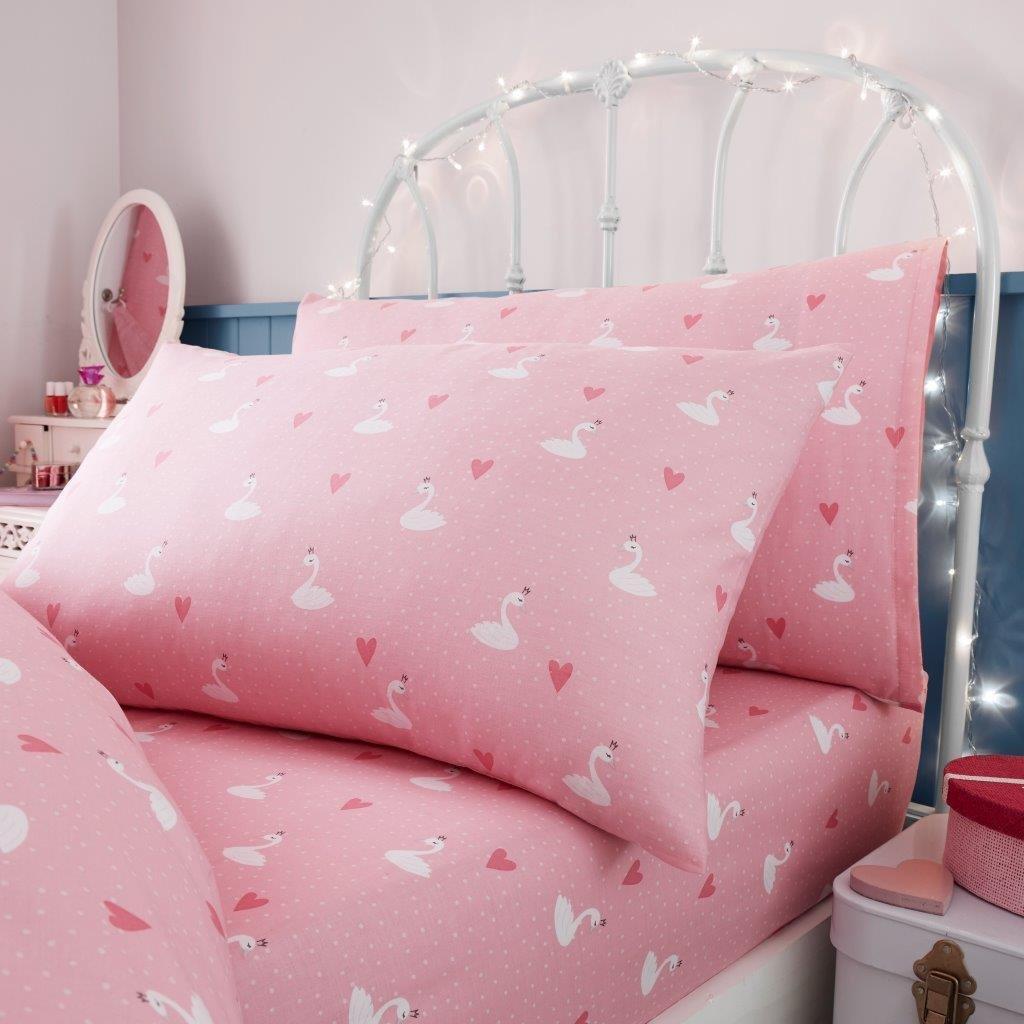 GoldStar® Princess Girls Kids Single Duvet Quilt Cover Children Bedding Set, Duvet Cover NA