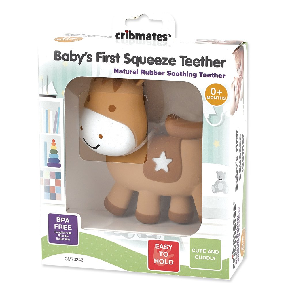 Babys First Squeeze Teether Horse Scholastic