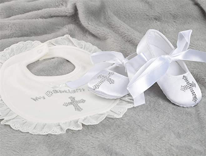 Baby Birthday Gifts Keepsake Dollbling Christening Handmade White Pearls Baby Shoes and Pacifier Set