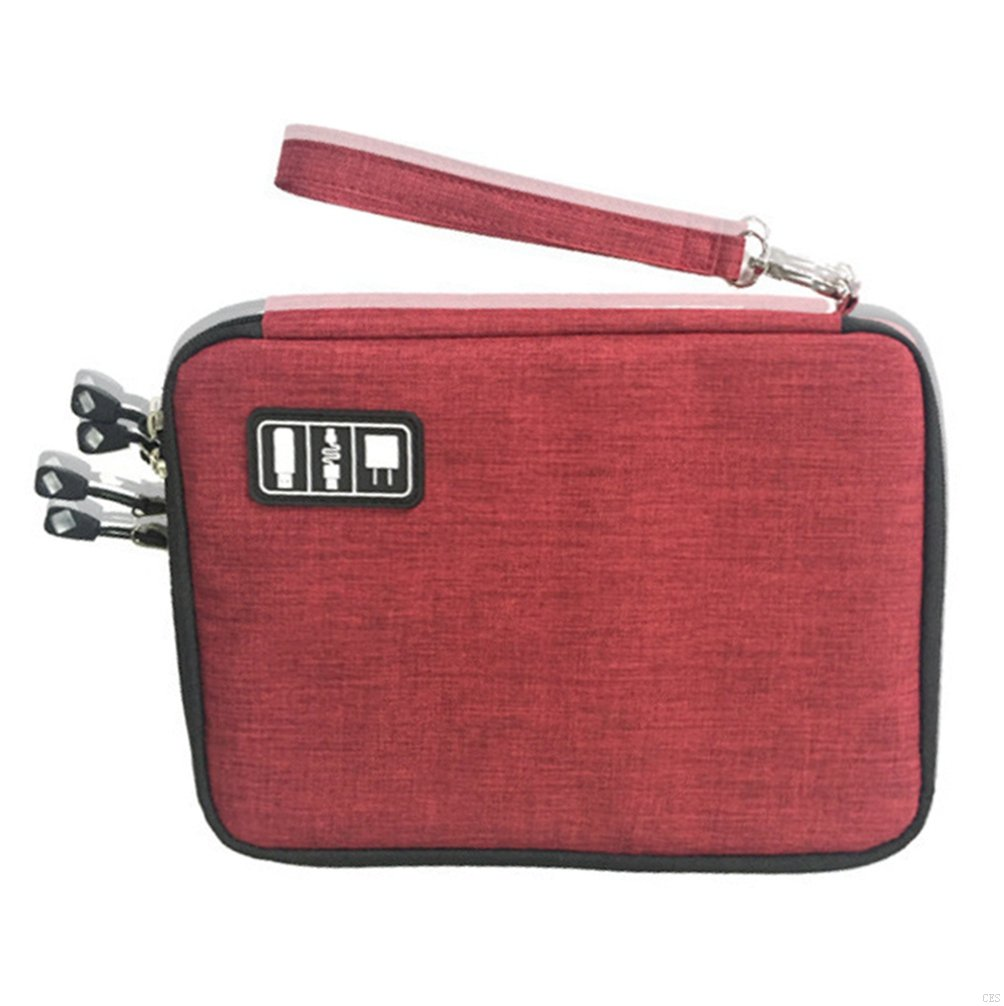 GADIEMKENSD Accessories Travel Case Travel Case For Phone Wallet Cable Electronics Case Travel Bag Accessory Organizer Travel Accessories In Electronic Travel Organizer Case Electronic Wire Case Red