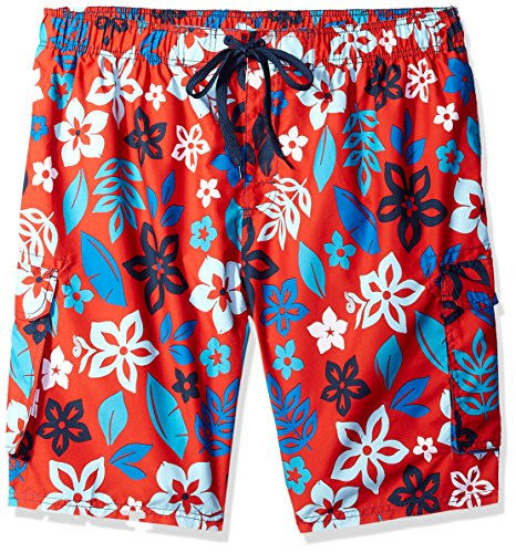 (Kanu Surf Men's Miles Swim Trunks (Regular & Extended Sizes), Revival Red, 4X )