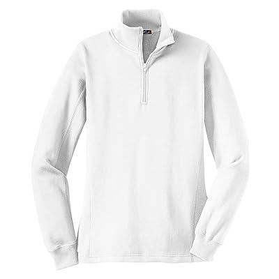 SportTek Ladies 1/4 Zip Sweatshirt LST253