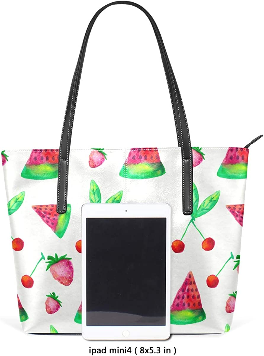 DEZIRO Painted Watermelon Cherry Strawberry Ladies Shoulder Handbags for Saily Use