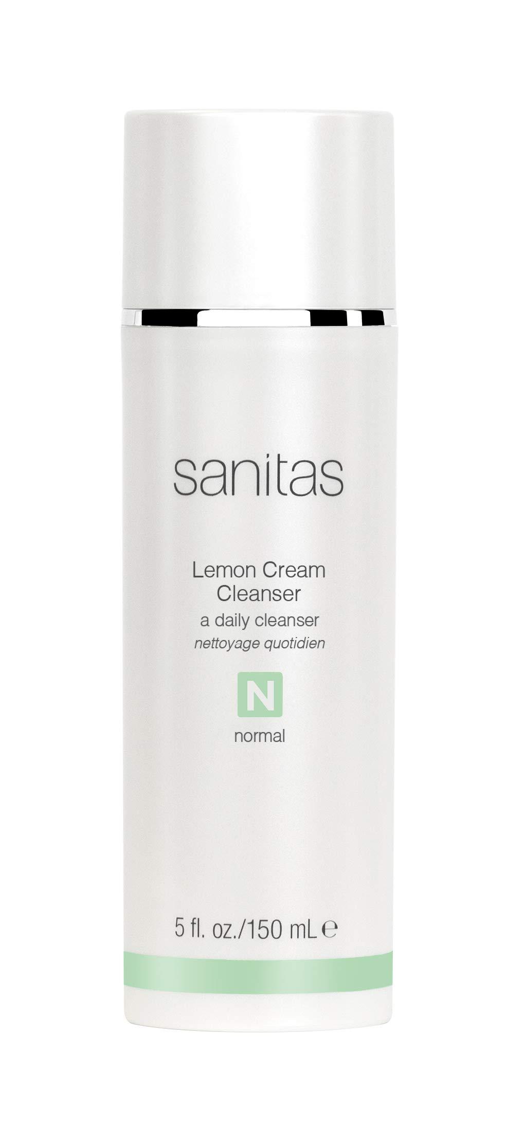 Sanitas Skincare Lemon Cream Cleanser, Enriching Cleanser, 5 Ounces by Sanitas