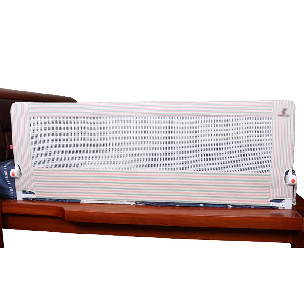 ベッドフェンス- ベビーベッドレール子供用アンチドロップベッド枕用レールベッドサイドロングガードレールキングサイズベッド - ピンク、1.5/1.8m (サイズ さいず : 180cm) 180cm  B07JC34GXL