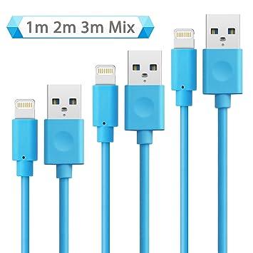 iPhone Cable - Quntis® [3Pack 1m,2m,3m] Alta Velocidad [