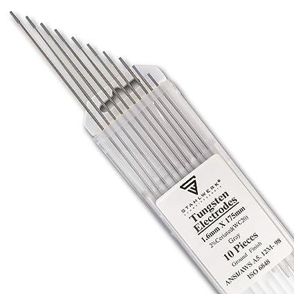 10 x STAHLWERK WIG Tungsteno Soldadura Electrodos 1,6 x 175 ...