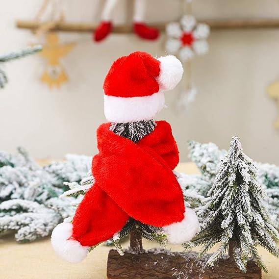 Amosfun Sombrero de Santa de Navidad para Mascotas Perro Gato Accesorios para Disfraces de Mascotas de Navidad