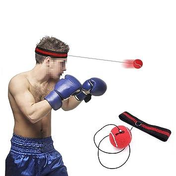 Wolike - Pelota de boxeo con cinta para la cabeza para combatir ...