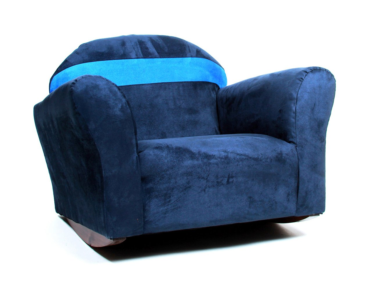 KEET Bubble Rocking Microsuede Kid's Chair, Navy/Blue