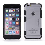 "iPhone 7/6/6s (4.7"") Case - MOBOLOX Mi6 Hybrid Case - Black - Premium Quality, Anti-Scratch, Anti-Slip, Diamond Frosted Matte Transparent Back, Tough Design and Shock Absorbing Edges - Ergonomic and Stylish Design + FREE 4.7"" Screen Protector ($5.99 Value)"