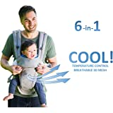 All Seasons 360 Ergonomic Baby Carrier - 6 Position, Easy Breastfeeding, No Infant Insert Needed, Adapt to Growing Baby (Newborn, Infant & Toddler), Best Baby Shower Gift - PATENT PENDING