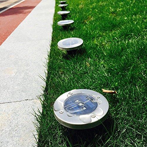 Findyouled Solar Ground Lights, Outdoor Waterproof Warm