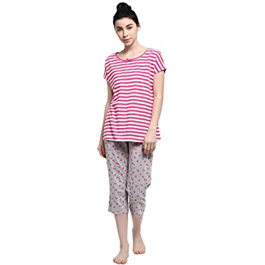 Dreamz by Pantaloons Womens Printed Sleepwear Sets  Amazon.in  Clothing    Accessories 7145c0255