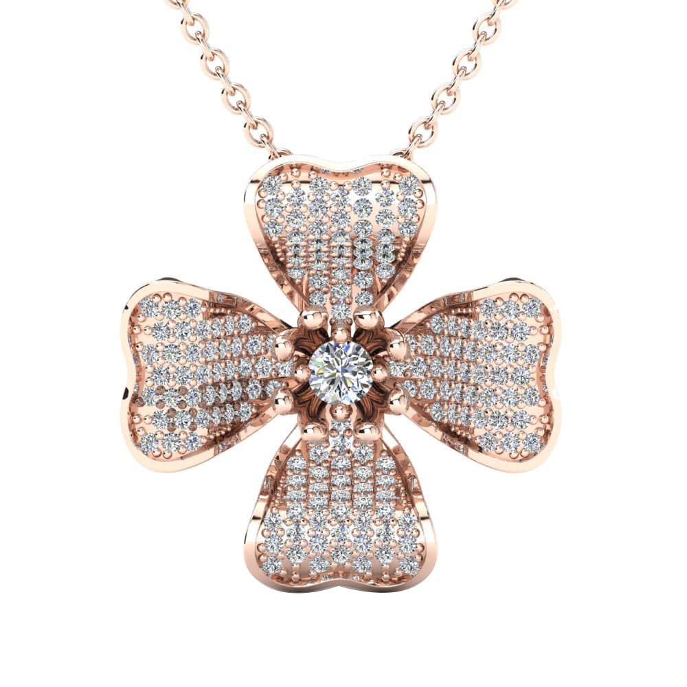 DTJEWELS 14K Gold Plated .925 Sterling 0.1 Ct Simulated Diamond Colgante Squamish Pendant W//18 Chain