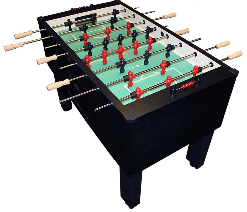 Gold Standard Home Pro Carbon Fiber Foosball - Stainless Steel & Wood