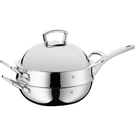 WMF Set de wok 2 piezas Wok metal Tapa regulable wrase ...