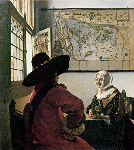 Gifts Delight LAMINATED 16x18 Poster: Jan Vermeer - Officer and laughing Girl, Johannes Vermeer