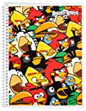 Mead Angry Birds Notebook, 10-1/2 x 7-1/2-Inches, 1-Subject, 80ct, CR, Blue Scene (72046)