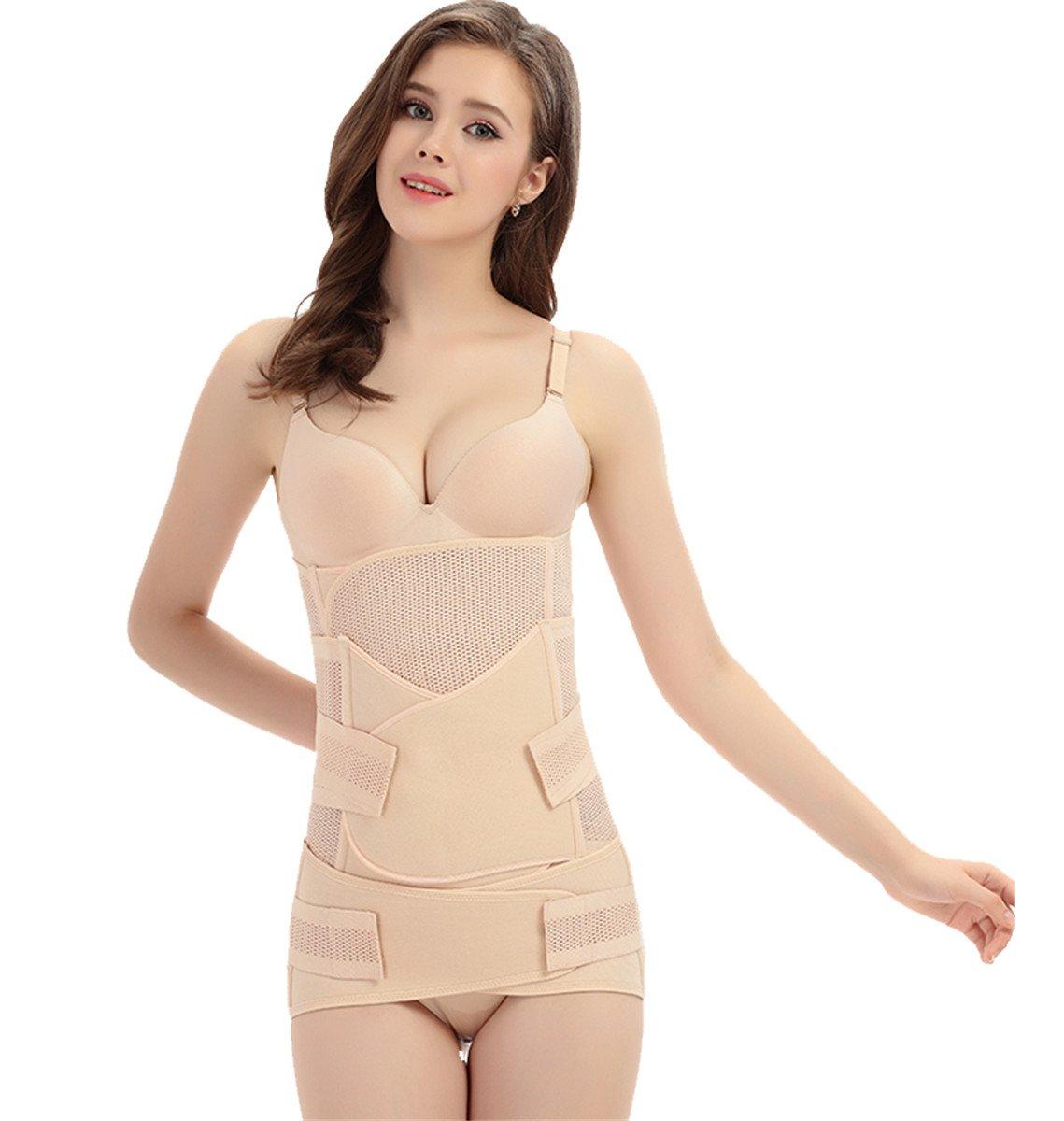 3 in 1 Postpartum Support Recovery Belly Wrap Waist/Pelvis Belt Body Shaper Postnatal Shapewear(M) by kaimap