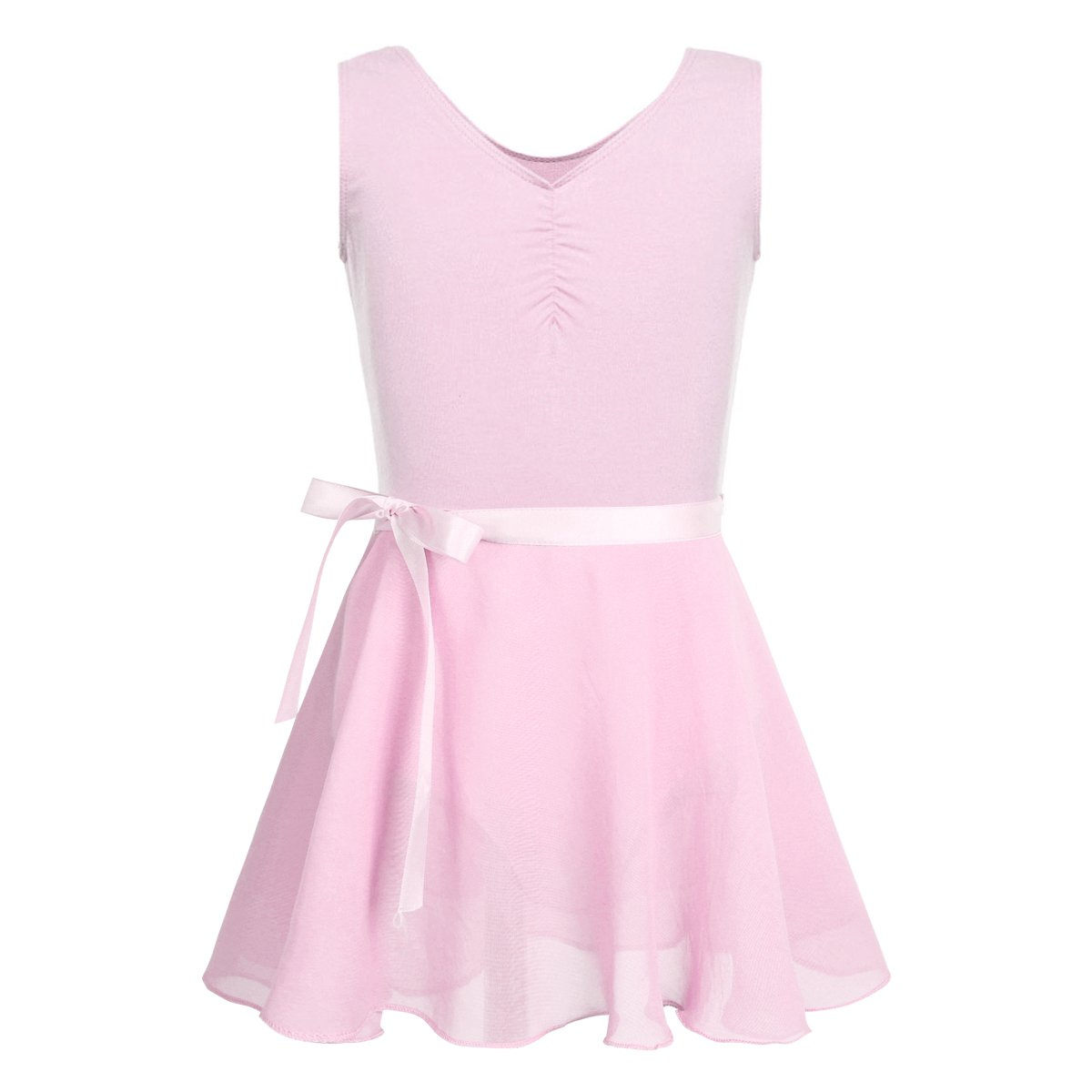 4aa53c6b8 iEFiEL Kids Girls Cotton Short Sleeves Ballet Dance Gymnastics ...