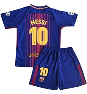 f35550c0004 Petersocks 10 Messi Barcelona Home Kids Or Youth Soccer Jersey   Shorts Set  2017-2018