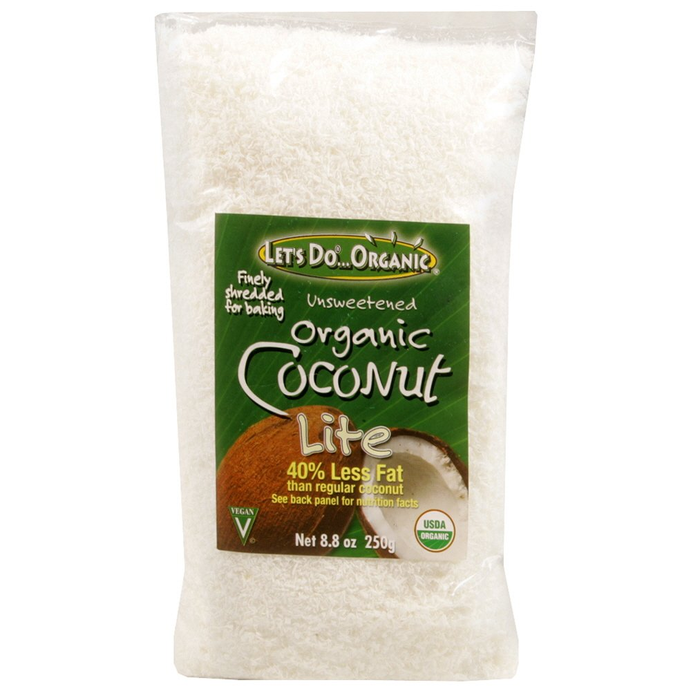 Let's Do Organic Coconut, Reduced Fat Organic Shredded, 8.8-Ounce (Pack of 6)
