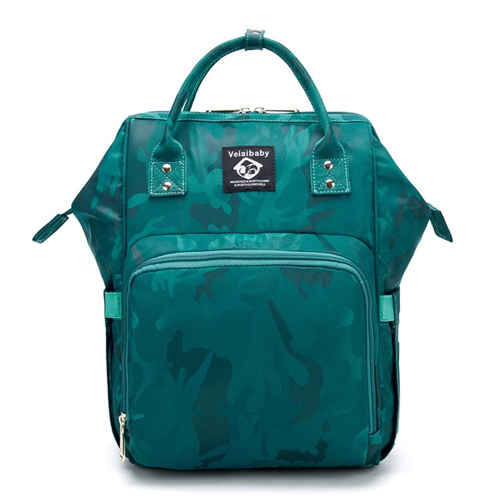 XRXファッションMummy Maternity Nappyバックパックバッグ大容量ママ赤ちゃん多機能アウトドア旅行おむつバッグベビーケア、グリーン B07FDZL4QF
