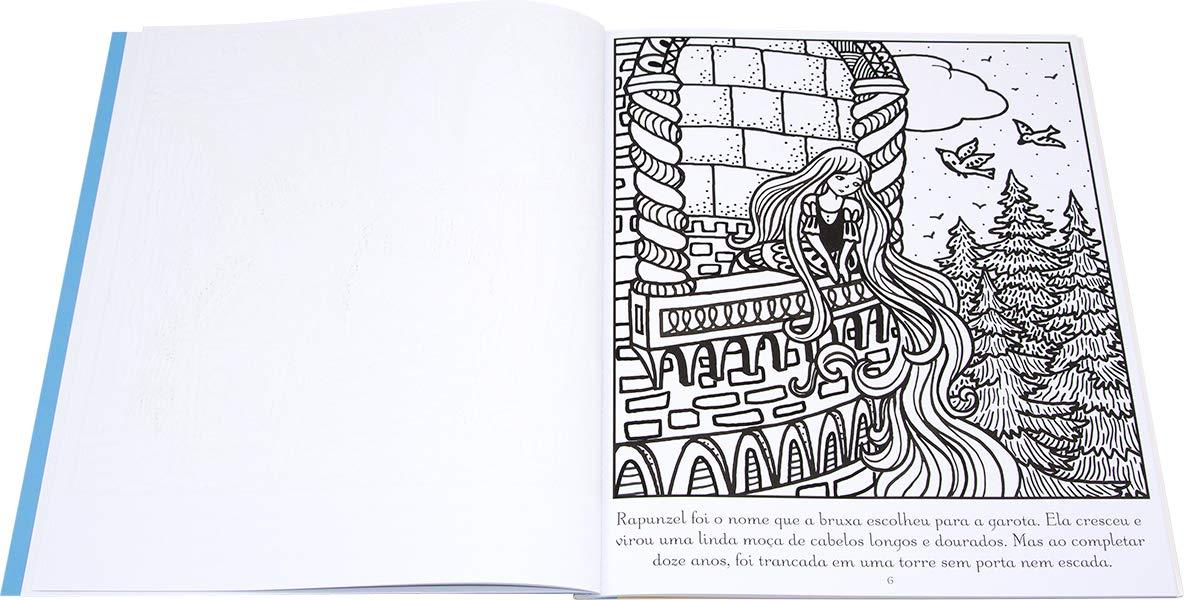 Rapunzel Livro Magico Para Colorir Em Portugues Do Brasil