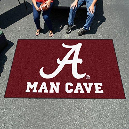 Alabama Crimson Tide NCAA Man Cave Ulti-Mat'' Floor Mat (60in x 96in)'' - FAN-14527 by Fanmats