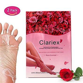 N.O.P Mascarillas para pies, 2 pares, calcetines exfoliantes, para eliminar callos y piel