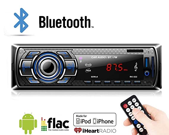 Car Radio, Lypumso Bluetooth Stereo, MP3 Player, Supports Hands-free Calls,  and Radio Function file reading function  ISO Plug (black)