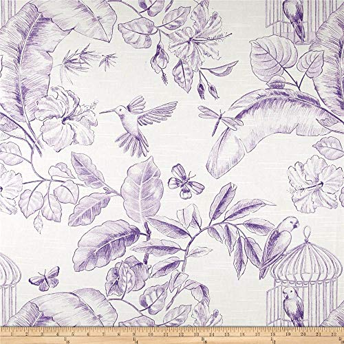 Home Accent Fabrics Menagerie Toile, Grape (Grape Fabric By The Yard)