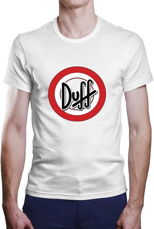 Camiseta Duff. Una Camiseta de Hombre de la Cerveza Duff. Camiseta Friki de Color Blanca: Amazon.es: Ropa y accesorios