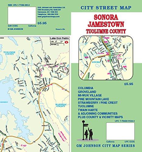 Sonora Tuolumne County Twain Harte Ca Street Map Gm Johnson