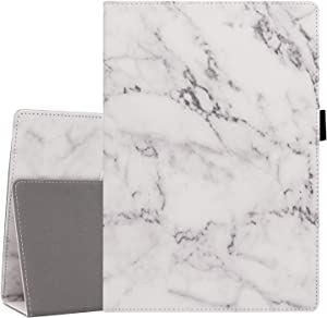 Gylint Case for Lenovo Tab E10 (TB-X104F) / Lenovo Tab 4 10 / Lenovo Tab 4 Plus 10 inch Tablet - Premium PU Leather Folio Cover with Auto Sleep/Wake for Lenovo Series, with Pencil Holder Marble