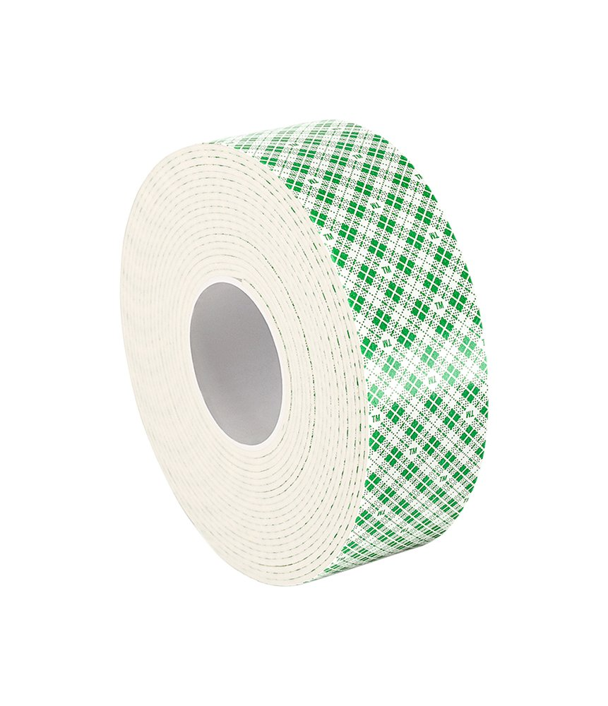 Length 0.25 Width x 5yd Length 1//4-5-4016W 0.25 Width x 5yd 3M 4016 Natural Polyurethane Double Coated Foam Tape PK 4
