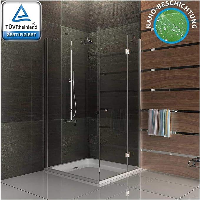 Ducha de cristal de vidrio templado de ducha de diseño de alta calidad completamente ducha ducha con 100 x 195 mampara de cristal: Amazon.es: Bricolaje y herramientas