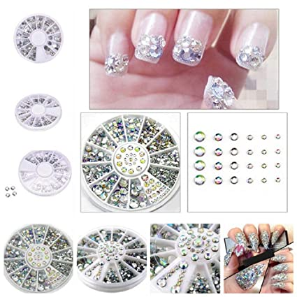 QUICKLYLY Uñas/Manicura-Diamantes Dazzling Tips Nail Sticker ...
