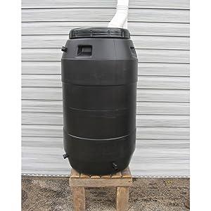 Upcycle Black Rain Barrel