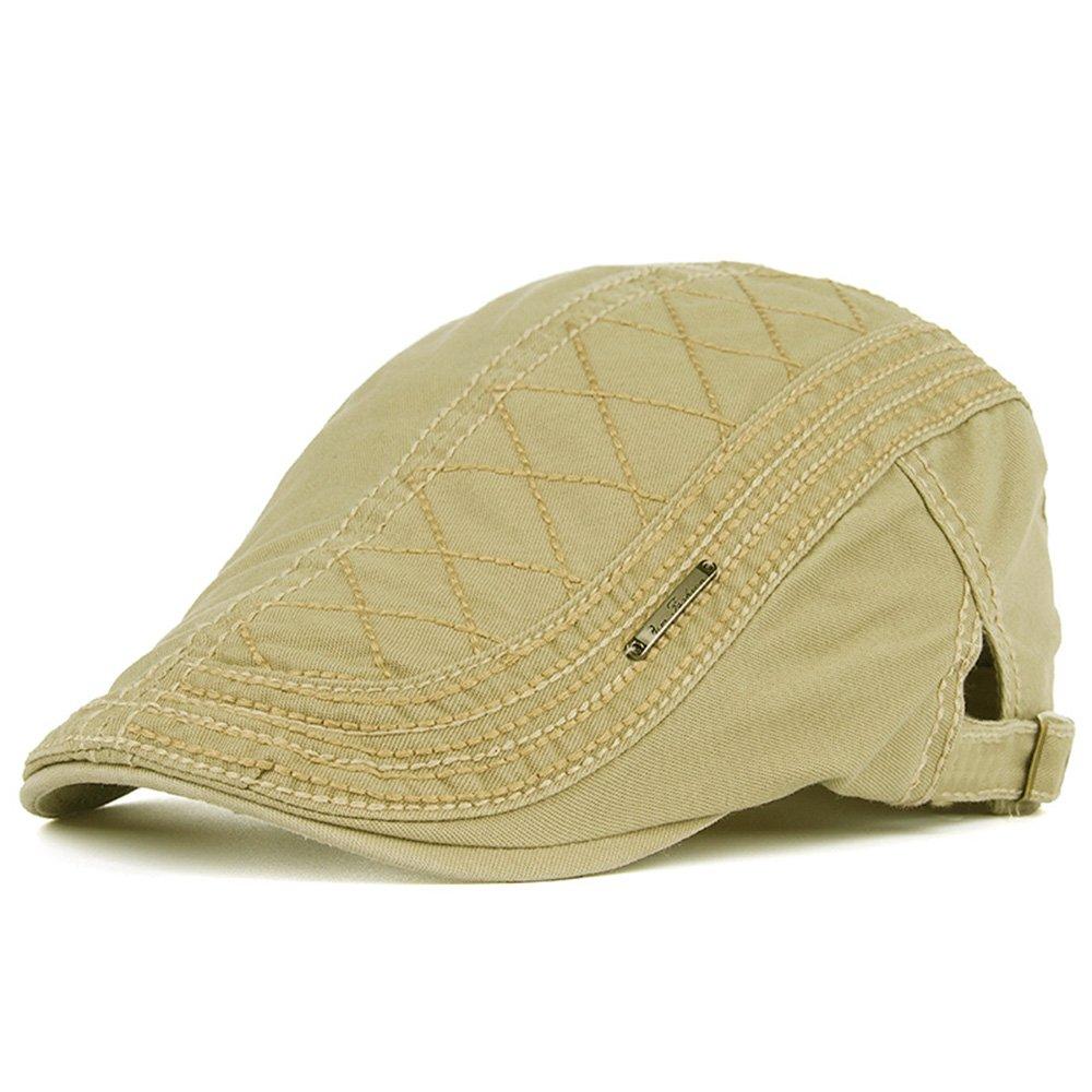 Men's Newsboy Gatsby Hats Cotton Flat Snap Vintage Autumn Early Winter Beret Ivy Cabbie Flat Driving Hunting Cap