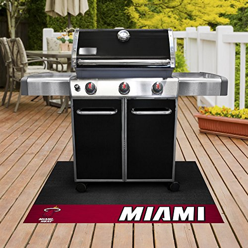 FANMATS - 14210 - NBA - Miami Heat Grill Mat 26x42 by Fanmats