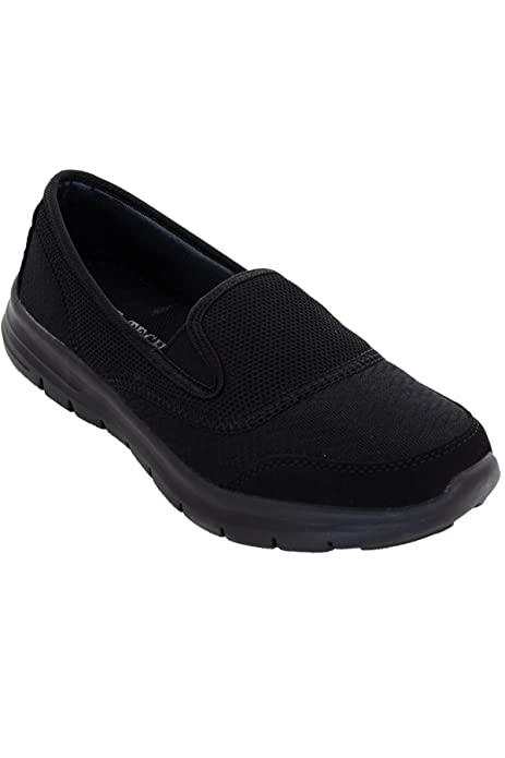 ZAFIRO BOUTIQUE Mujer Plano Deporte Gimnasio Ligero Zapatillas Cómodo Sin Cordones Zapatos Para Andar zapatillas - Mujer, Gris / Rosa, 6 UK / 39 EU