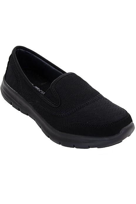 ZAFIRO BOUTIQUE Mujer Plano Deporte Gimnasio Ligero Zapatillas Cómodo Sin Cordones Zapatos Para Andar zapatillas: Amazon.es: Zapatos y complementos