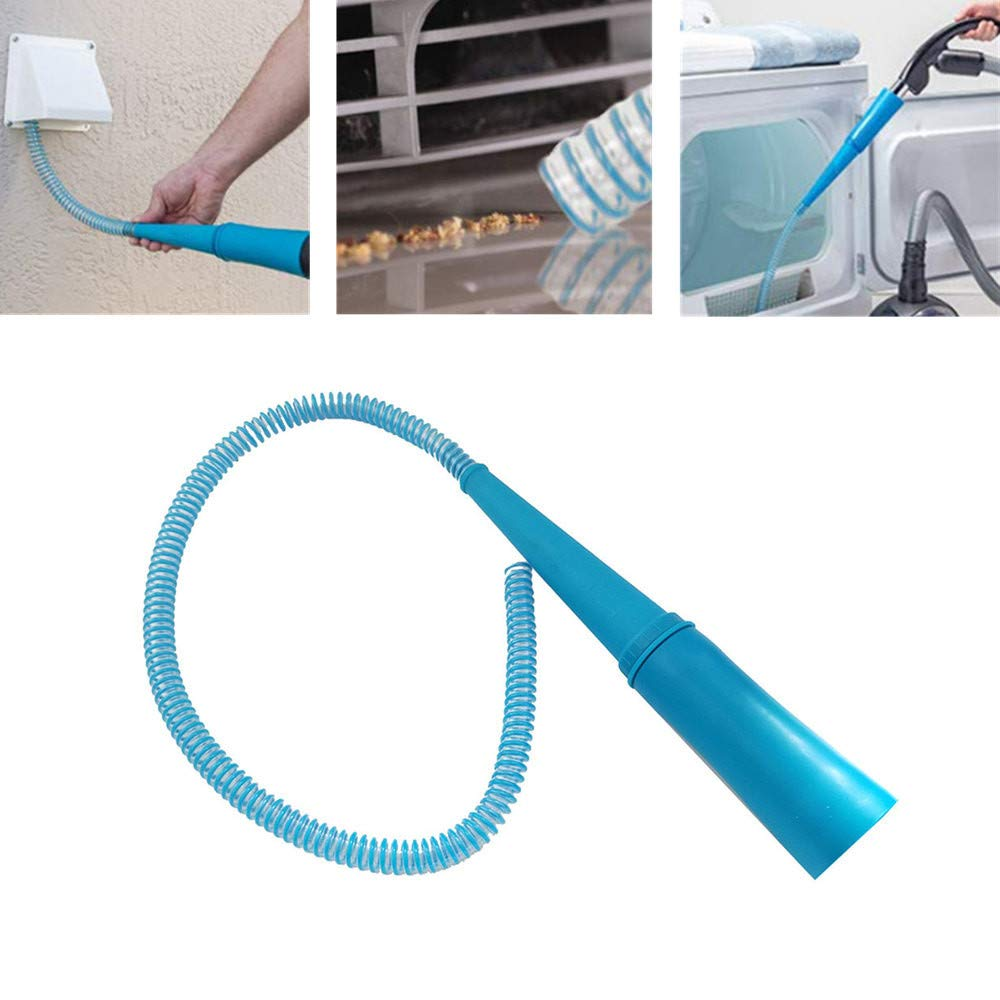 Elaco Dryer Vent Vacuum Cleaner Attachment Plush Fine Dust Cleaning Connecting Tube Reduces Fire Risk and Drying Time Extends The Life of Your Dryer for Most Vacuum Cleaners