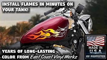 devil tail 6pc flames skull Harley Sportster xlh dyna glide motorcycle old skool
