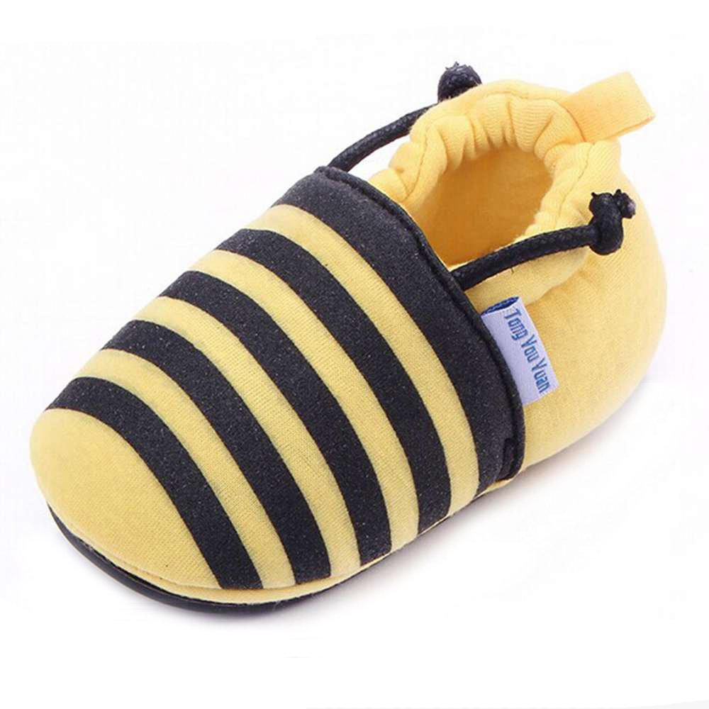 3 M US Infant, Bee Lidiano Infant//Toddler Baby Non Slip Rubber Soft Sole Cartoon Walking Slip on Shoes for Home//Outdoors