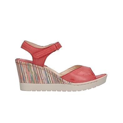 prese di fabbrica meticolosi processi di tintura bambino Melluso Sandali Zeppa Rosso Scarpe Donna Walk 019091: Amazon ...