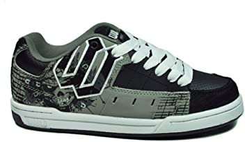 b2836ab7381168 World Industries Men s Vandal Shoes Black gray Skateboarding Sneakers Size  7.5