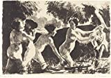 """The Museum Outlet - Wrestling Bathers, 1896 01, Stretched Canvas Gallery Wrapped. 11.7x16.5"""""""